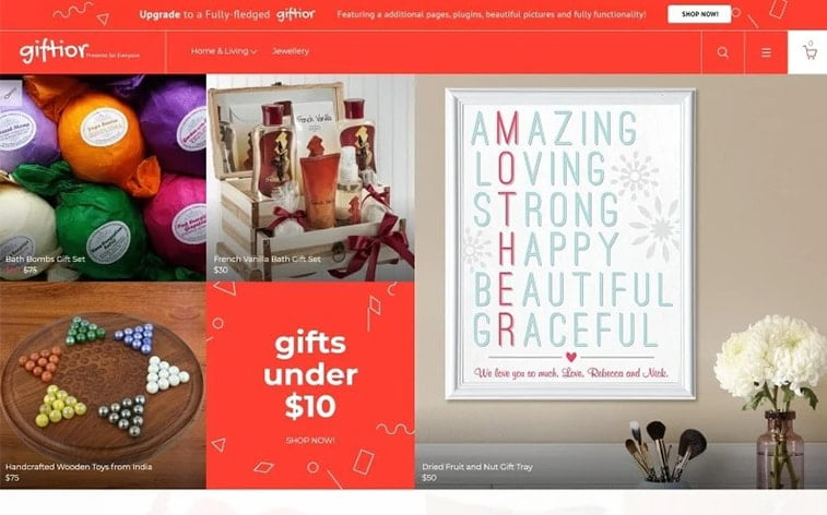 best free botstrap theme template website gift presents shop-ecommerce