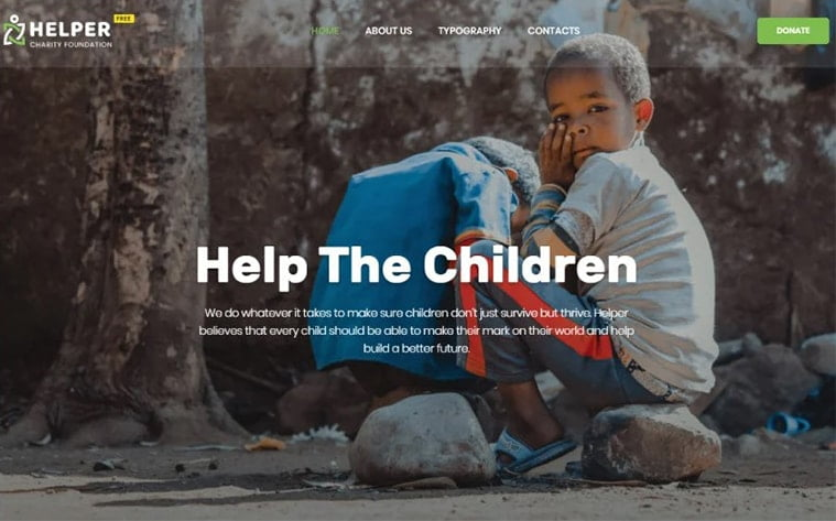 best free botstrap theme template website charity organization help donations