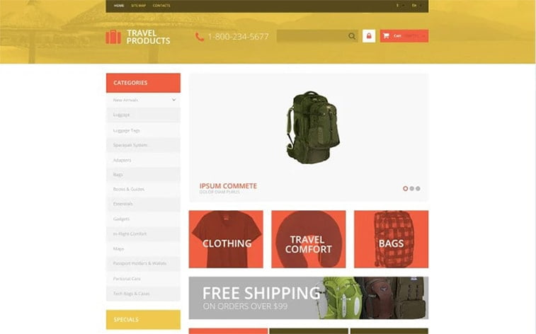 best free botstrap theme template website outdoor gear equipment adventure travelling ecommerce