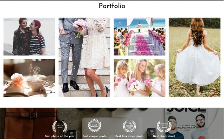 best free botstrap theme template beauty website photography portfolio photographer