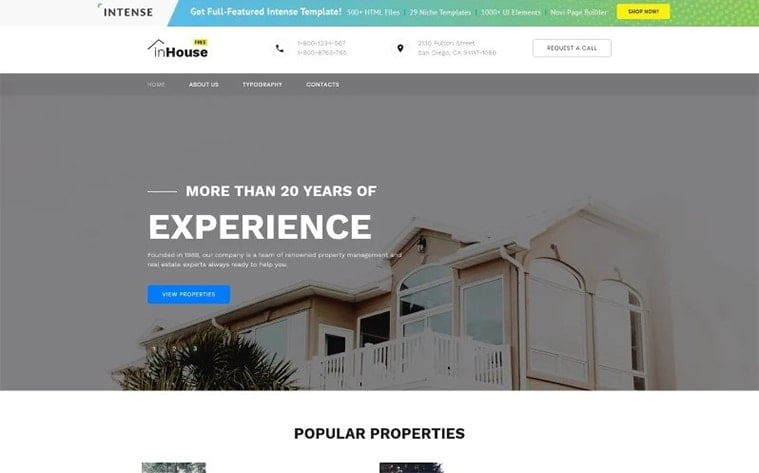 best free botstrap theme template website real estate architecture agency