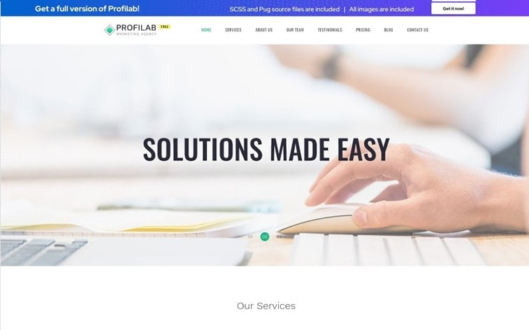 best free botstrap theme template website business solution corporate firm