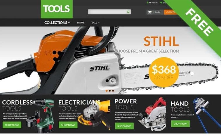 best free botstrap theme template website tools handyman machines ecommerce