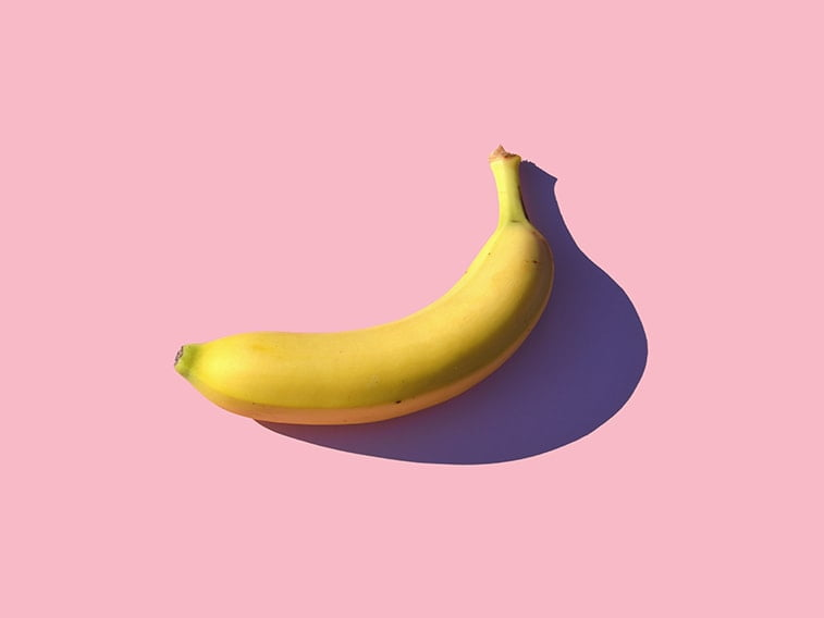 wallpaper desktop minimalism banana pink