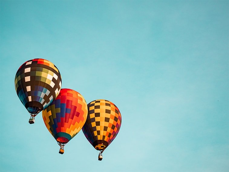 wallpaper desktop minimalism hot air balloons
