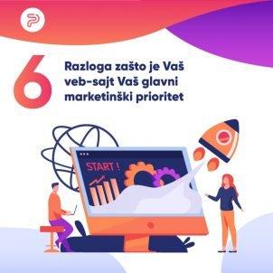 6 razloga zašto je Vaš veb-sajt Vaš glavni marketinški prioritet
