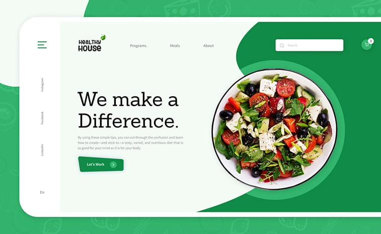 website design health food green