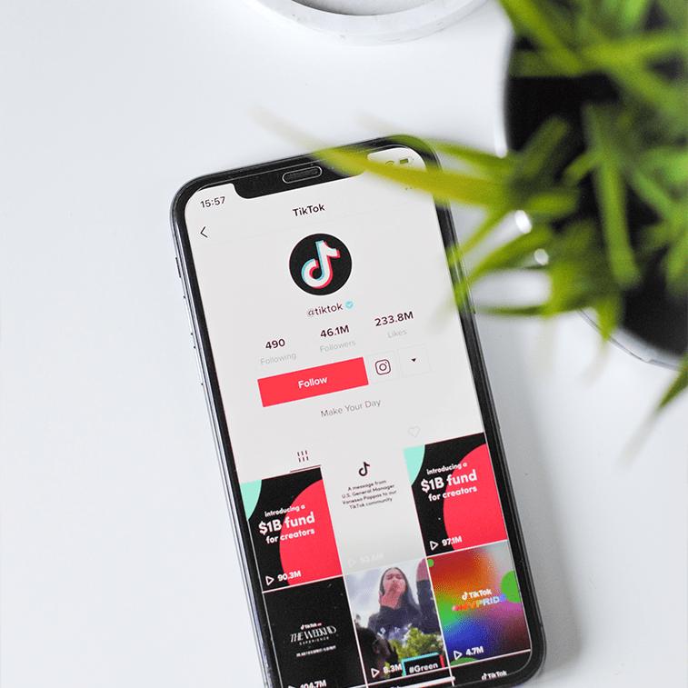 tiktok app on a mobile screen
