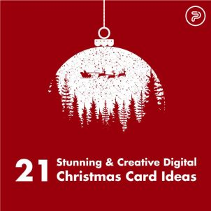 21 Stunning & Creative Digital Christmas Card Ideas