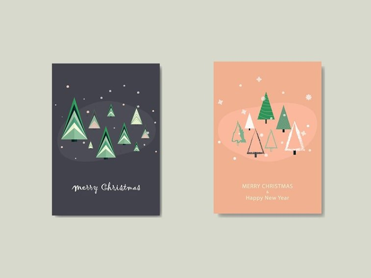 christmas card digital design ideas