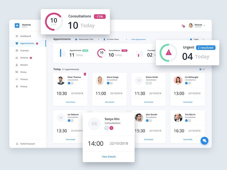 healthcare medical app concept ui ux design