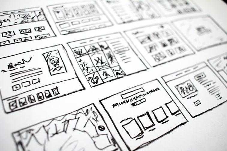 drawing website plan