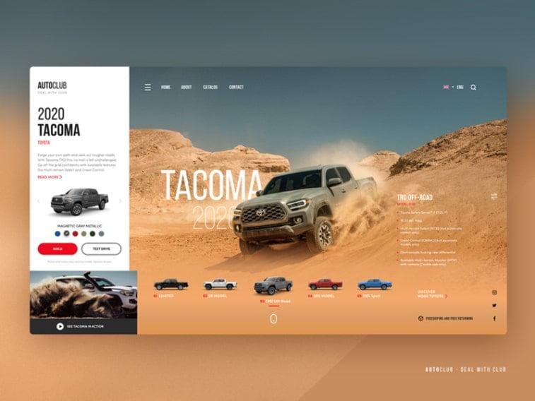 car dealership web app example design