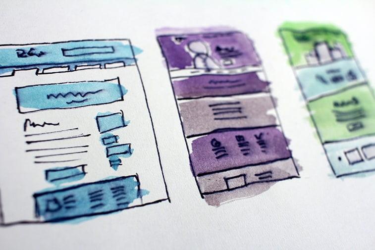 website deisgn plan drawing