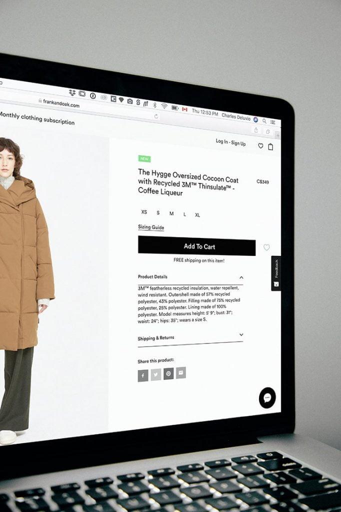 website ecommerce content