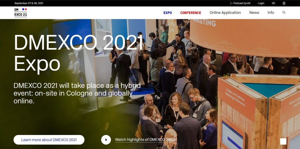 digital marketing conference 2021 dmexco