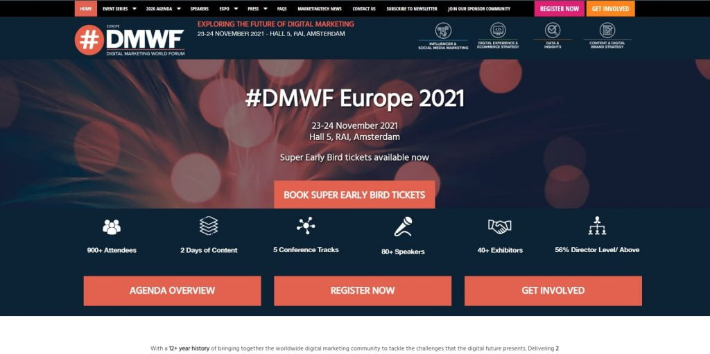 digital marketing conference 2021 dmwf