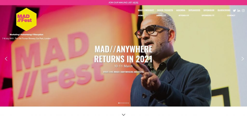 digital marketing conference 2021 mad fest
