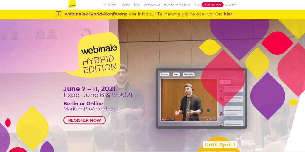 web design events 2021 webinale
