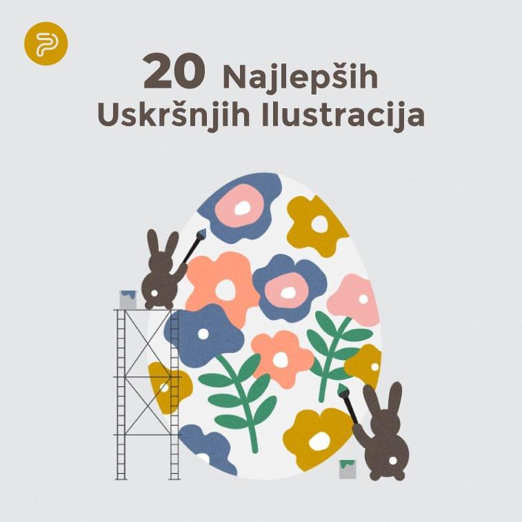 20 Najlepših Kreativnih Uskršnjih Ilustracija
