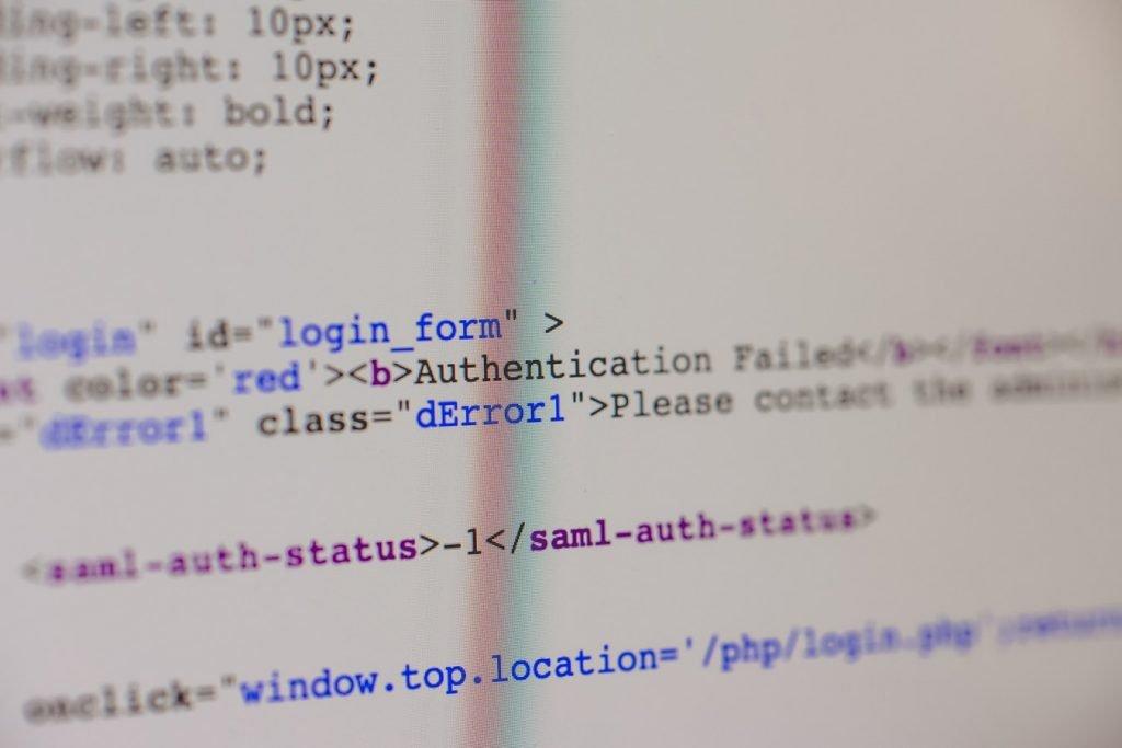 code error website