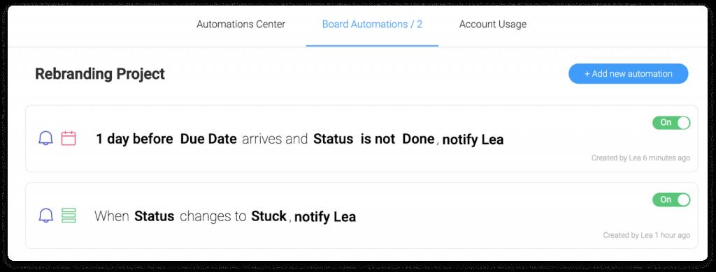 monday project management interface