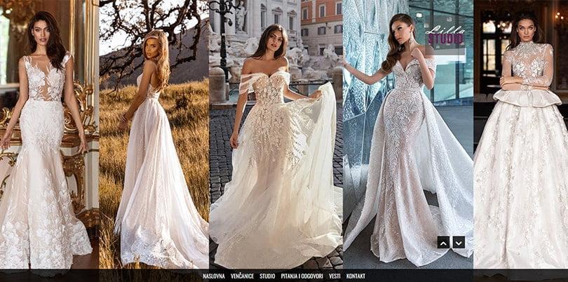 wedding dress studio website