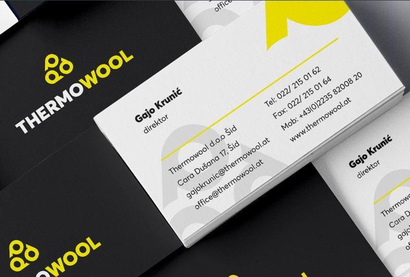 Uglađena biznis vizitkarta, PopArt Studio