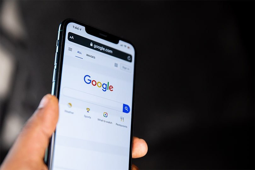 google search screen on mobile phone